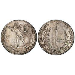 Potosi, Bolivia, 2 soles, (1841), Ballivian / native / Ingavi, PCGS AU50.