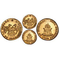 Potosi, Bolivia, gold 1 scudo, pre-1848, Mercedes Coll (wife of Ballivian), PCGS AU58.