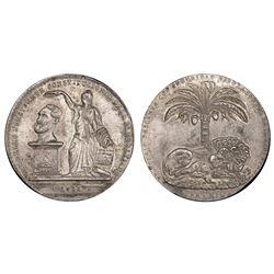 Potosi, Bolivia, 60 soles (prize medal), 1850, Belzu, PCGS AU details / damage.