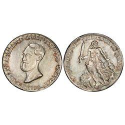 Potosi, Bolivia, 4 soles, 1850, Belzu / Hercules, PCGS MS62.