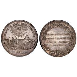Potosi, Bolivia, 16 soles, 1852, Belzu / Plaza de Potosi / Aramayo, PCGS AU55.