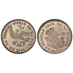 La Paz, Bolivia, 1 sol, 1854, Belzu / condor, PCGS MS63.