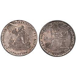Potosi, Bolivia, 2 soles, 1855, Cordova / religion, PCGS MS62.