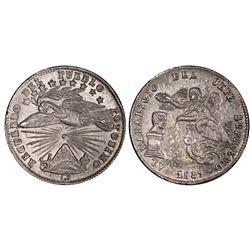 Potosi, Bolivia, 1 sol, 1857, Cordova / angel / condor, PCGS MS62.