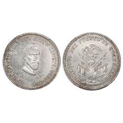 Potosi, Bolivia, piefort 1/4 peso, (1863), Acha / condor over armor (Cochabamba issue), PCGS MS61.
