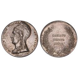 Potosi, Bolivia, 5 bolivianos, 1865, Munoz, PCGS AU58.