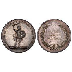Potosi, Bolivia, 3 bolivianos, 1865, Melgarejo, PCGS AU details / scratch, ex-Derman.