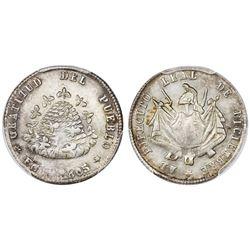 Potosi, Bolivia, 1/10 boliviano, 1865, PCGS MS62.