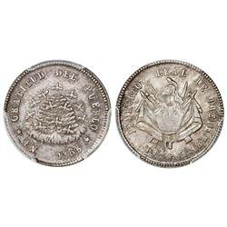 Potosi, Bolivia, 1/10 boliviano, 1865, PCGS MS63.