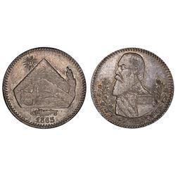 Potosi, Bolivia, 1/8 melgarejo, 1865, PCGS MS63.