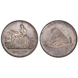 Potosi, Bolivia, 5 melgarejos, 1866, Jorge Oblitas, PCGS AU55.