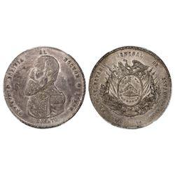 Potosi, Bolivia, 1 boliviano, 1866, Munoz, PCGS AU55.