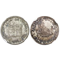 Potosi, Bolivia, 1-sol monetary medal, 1851, Constitution, NGC MS 63+, ex-Cotoca (stated on label).