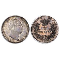 British Guiana, proof 1/2 guilder, William IV, 1836, PCGS PR63.