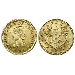Popayan, Colombia, gold 1 escudo, 1824FM.