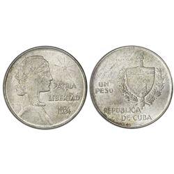 "Cuba, 1 peso (""ABC peso""), 1934, ANACS MS 62."