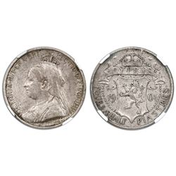 Cyprus, 4-1/2 piastres, 1901, Victoria, NGC XF 45.