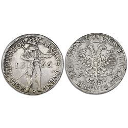 Besancon (France, Holy Roman Empire), thaler / daalder / patacon, 1666, in name of Emperor Charles V
