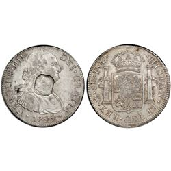 Great Britain, 1 dollar, octagonal George III countermark (1799-1804) on a Mexico bust 8 reales, Cha