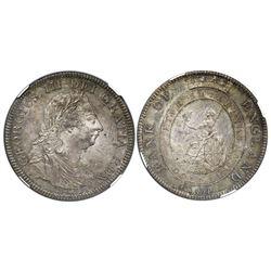 Great Britain (Bank of England), 5-shilling / 1-dollar bank token, George III, 1804, NGC MS 64.