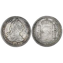Guatemala, bust 8 reales, Charles III, 1772P.