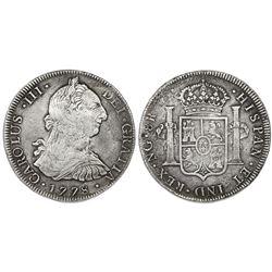 Guatemala, bust 8 reales, Charles III, 1778P.