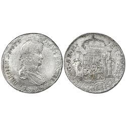 Guatemala, bust 8 reales, Ferdinand VII, 1808M, very rare.