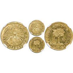 Guatemala (Central American Republic), gold 1/2 escudo, 1825M, NGC MS 64.