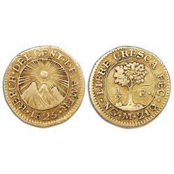 Guatemala (Central American Republic), gold 1/2 escudo, 1825M.