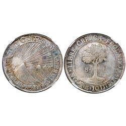 Guatemala (Central American Republic), 8 reales, 1846/2AE/MA, CREZCA/CRESCA, NGC MS 62.