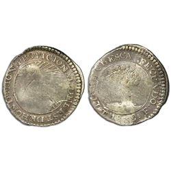 Tegucigalpa, Honduras, low silver 1 real (provisional), 1839F, PROVICIONAL error, NGC F details / sc