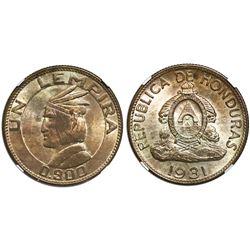 Honduras, 1 lempira, 1931, NGC MS 65.