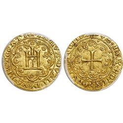 Genoa (Italian States), gold genovino, doge Simone Boccanegra (1339-1363), PCGS MS63, finest and onl