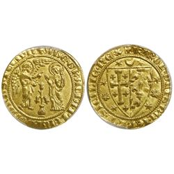 Naples and Sicily (Italian States), gold salut d'or, Charles I d'Anjou (1266-1278), PCGS MS63.