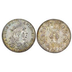 Naples & Sicily (Italian States), tari (20 grana), Charles II of Spain, 1699IM-AGA, NGC MS 62, fines