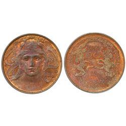 Italy, bronze 20 centesimi, Victor Emanuel III, 1906, Milan Expo, NGC MS 63 RB.