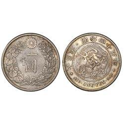 Japan, 1 yen, meiji 45 (1912), NGC AU details / chopmarked.