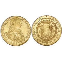 Mexico City, Mexico, bust gold 8 escudos, Ferdinand VII, 1811JJ.