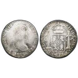 Durango, Mexico, bust 4 reales, Ferdinand VII, 1816MZ, very rare, ex-Murias.
