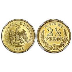 Mexico City, Mexico, gold 2-1/2 pesos, 1888M, NGC MS 63.