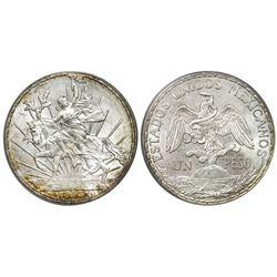"""Mexico City, Mexico, 1 peso """"caballito,"""" 1913, PCGS MS64."""