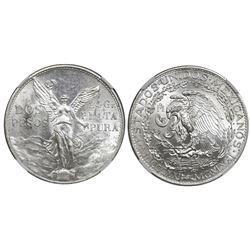 Mexico City, Mexico, silver 2 pesos, 1921, Independence Centennial, NGC MS 62.