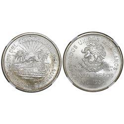 Mexico City, Mexico, 5 pesos, 1950, Southern Railroad, NGC MS 66.