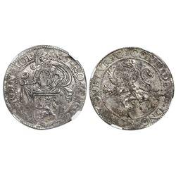 Holland, United Netherlands, lion daalder, 1589, NGC MS 61.