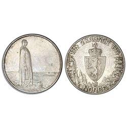 Norway, 2 kroner, 1914, Constitution centennial, NGC MS 62.