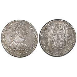 "Lima, Peru, bust 1 real, Ferdinand VII (""imaginary"" bust), 1810JP."