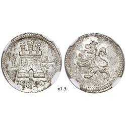 Lima, Peru, 1/4 real, 1816, NGC MS 64.