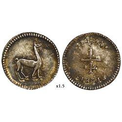 Lima, Peru, 1/4 real, 1841/0.