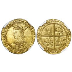 "Seville, Spain (Castile and Leon), gold dobla, Pedro I (""the Cruel,"" 1350-69), NGC MS 64, finest kno"