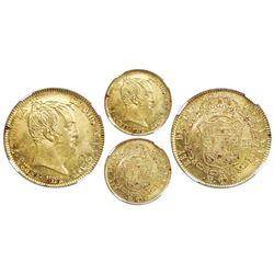Madrid, Spain, bust gold 320 reales de vellon, Ferdinand VII, 1822SR, NGC MS 63.
